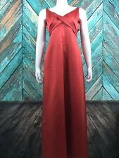 Alfred Angelo Women's Formal Bridesmaids Dress 2 Satin Floor Length Persimmon