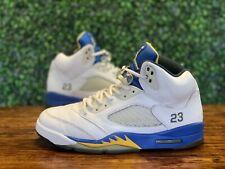 Nike Air Jordan 5 V Retro Laney Blue Yellow Size 10 Mens 2013 136027-189
