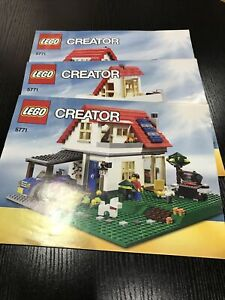 LEGO CREATOR | 5771 | HILLSIDE HOUSE INSTRUCTION MANUALS x 3 ONLY