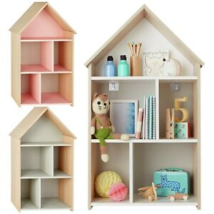 Camden Acacia Children Kids Doll House Display Shelf Storage Bookcase Bookshelf