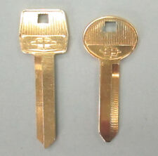 LAST SET Vintage LINCOLN Yellow Gold Plated NOS Keys H50 H60  Fits 1985 - 1992