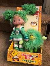 New 2003 Vintage Rainbow Brite Patty O' Green Doll & Lucky Toy Play Hallmark Nip
