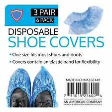 6 Pieces Disposable Shoe Covers Non-woven Non-Slip Water Resistant Dust Proof