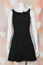VTG 90s GRUNGE Black BETSEY JOHNSON Ribbed CLUB KID Party MICRO MINI DRESS XS-S