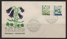 Iceland Stamps 1962  Flowers First Day Covers FDC
