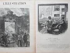 L' ILLUSTRATION 1894  N 2655  INCENDIE DU MAGASIN DES DECORS DE L'OPERA DE PARIS
