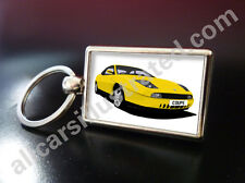 FIAT COUPE METAL KEY RING. CHOOSE YOUR CAR COLOUR.