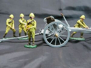 W BRITAIN PREMIER SERIES 8915 4.5 HOWITZER WITH LIMBER TOY SOLDIERS SET       37