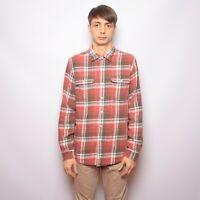 RRL Ralph Lauren Double RL Check Shirt Plaid Long Sleeve Cotton size L Thick