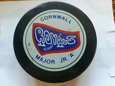 Vintage cornwall royals major jr.a Hockey Puck