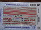 Microscale Decal HO #87-1103 Union Pacific SD70M Diesels (2000+)-Diesel - SD70M