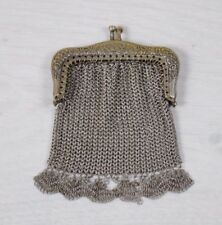 Antique Collectible Handmade Metal Work Small Women's Coin Purse Wallet Pouch