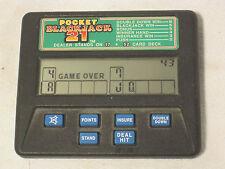 vintage Radica 1350 Pocket Blackjack 21 hand held casino video card gamble game