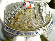 apollo moon landing commemorative belt buckle July 20th 1969