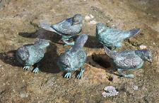 Bronzeskulptur, 5 kleine Spatzen Dekoration für Haus und Garten