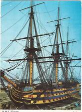 Harvey Barton Postcard H.M.S Victory Sailing Ship UP   (A8)