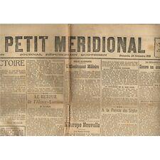 Le PETIT MÉRIDIONAL St Jean de Védas Lattes Lunel Clermont l'Hérault 24 Nov 1918