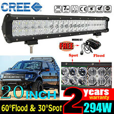 5D CREE 294W 20INCH LED LIGHT BAR COMBO OFF-ROAD DRIVING LAMP SUV PICKUP JEEP