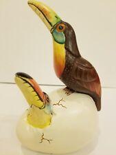 VTG Nacho Mejia Mexico Tonala Lrg Bird Egg Sculpture