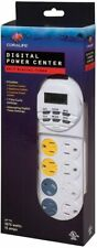 (New) Coralife Digital Power Center 8 Outlet Power Strip 4 Timer