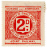 (I.B) Dundee & Arbroath Joint Railway : Letter Stamp 2d