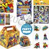 Kids Superhero Filled Ready Party bags boxes For Childrens Birthday Parties