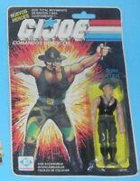 1985 GI Joe Comandos Heroicos Sgt Slaughter v2 Plastirama MOC Sealed Card Back