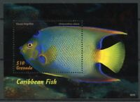 Grenada 2018 MNH Caribbean Fish Queen Angelfish 1v S/S Fishes Marine Stamps