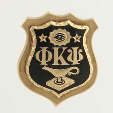 Phi Kappa Psi Fraternity Pin - 10k Yellow Gold Badge Fine Estate Eye Stars Lamp