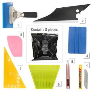 8 PCS Pro Window Tint Kits Wrapping Vinyl Tools Squeegee Scraper Applicator