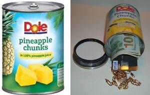 PINEAPPLE diversion can safe cash jewelry stash box money metal piggy bank