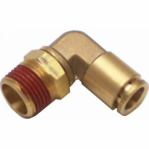 "3/8"" NPT Male to 3/8"" Push Tube Elbow Air Fitting 2 din 9 inch auto a body"