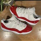 Nike Air Jordan 11 Retro Low Cherry 2016 White Red 528895-102 Men's Sz 11 Shoes