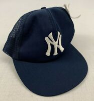 new york yankees vintage 80s mesh trucker adjustable snapback hat nwt nos