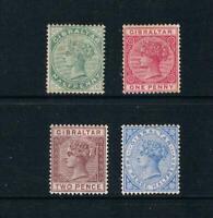 Gibraltar - 1886-87 - ½d to 2½d QV Portraits - SC 8/14a [SG 8-11] Mint 20 B
