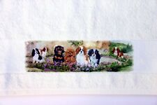 CAVALIER KING CHARLES SPANIEL PUPPY DESIGN PRINT LARGE HAND/GUEST TOWEL ARTIST