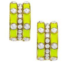 NWT $50 Heidi Daus STACKABLE STYLE Pierced Omega Earring NEON GREEN
