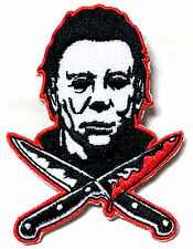 Authentic HALLOWEEN 2 Michael Myers Knives Embroidered Sew On Glue On Patch NEW