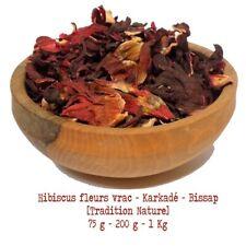 Tisane d' Hibiscus fleurs de bissap karkade   vrac 75 g à 1 Kg