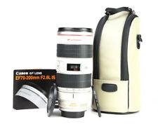 Canon EF 70-200mm F2.8 L IS Image Stabilisation USM lens + F/R Lens Caps & Case