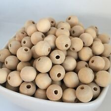 12mm Wooden Beads 20X Natural Unpainted Wood Bead DIY Craft Jewellery