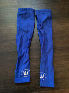 Vermarc Quickstep Arm Warmers Medium ride issued blue thermal fleece