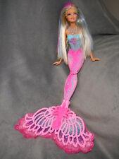 "Barbie Color Magic Mermaid 15"" Doll Blond Pink Blue Color Change Hair"