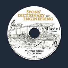 Spons' dictionary of Engineering,Civil,Mechanical 3 Volumes E-books PDF on 1 DVD