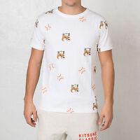 G BNWT Men's Reebok X Maison Kitsune Classic Baseball T-Shirt Tee S M L XL