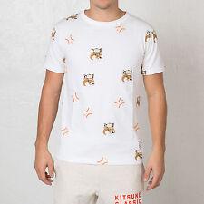 BNWT Men's Reebok X Maison Kitsune Classic Baseball T-Shirt Tee S L XL