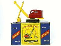Matchbox Major Pack M-4a Ruston Bucyrus 22-RB Power Shovel 'B' Box CRIMPED AXLES