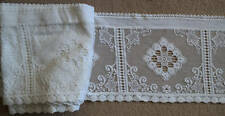 Charming Vintage cream cotton Nottingham lace valance cafe curtain sold per metr