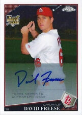 David Freese Cardinals Angels 2009 Topps Chrome #230 Auto Rookie Card rC NM-MT