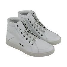 Diesel S-Groove Mid Mens White Leather High Top Lace Up Sneakers Shoes 9